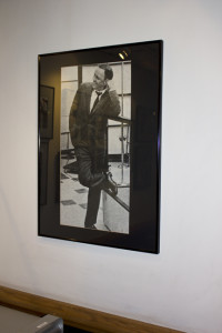 Frank Sinatra's photo on the wall at Ocean Way Recording in Hollywood.